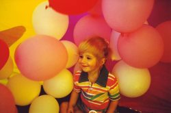 Kid and Balloons
